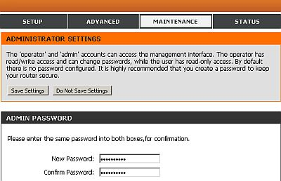 Change Unifi wireless modem router password