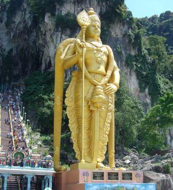 2011 Thaipusam Malaysia - Lord Muruga Statue at Batu Caves